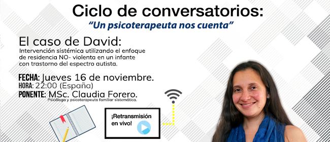 Claudia Forero em Un psicoterapeuta nos cuenta