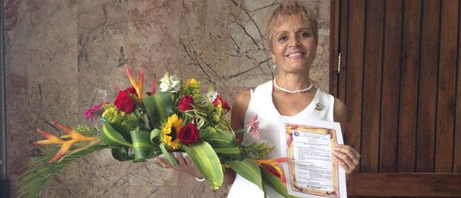 """Opiniões FUNIBER: Vitória Santa, aluna colombiana, bolsista pela FUNIBER: """"Minha experiência com a FUNIBER foi muito significativa"""""""