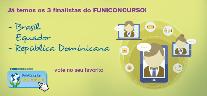 """Os 3 finalistas do FUNICONCURSO """"Publicação Solidária"""""""