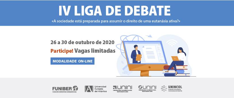 Alunos da rede universitária da FUNIBER participarão da Liga de Debates UNEATLANTICO