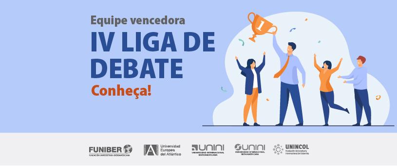 Sucesso da IV Liga de Debates UNEATLANTICO, com a participação de alunos da rede FUNIBER