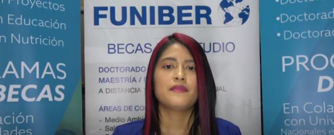 Entrevista com Lissette del Pilar Alarcón Guamán, estudante equatoriana com bolsa FUNIBER
